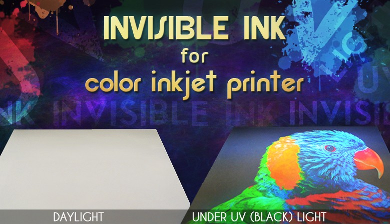 Invisible ink for color inkjet printer